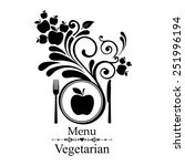 vegetarian menu. design... | Shutterstock .eps vector #251996194