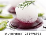 beet root salad with asparagus... | Shutterstock . vector #251996986