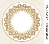 floral gold round border on... | Shutterstock .eps vector #251997769