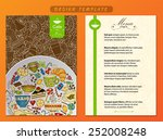 corporate identity. menu and... | Shutterstock .eps vector #252008248