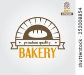logo or badge for bakery or... | Shutterstock .eps vector #252008854