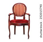 vintage classic red armchair... | Shutterstock . vector #252015790