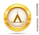 tent icon. internet button on... | Shutterstock .eps vector #252020908