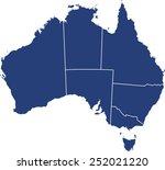 australia map | Shutterstock .eps vector #252021220