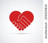 hands together. heart symbol.... | Shutterstock .eps vector #252025810