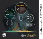 infographics with sound waves... | Shutterstock .eps vector #252026803