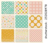 Polka Dots Seamless Pattern Set