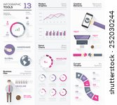 infographic tools collection... | Shutterstock .eps vector #252030244