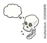 cartoon laughing skull with... | Shutterstock . vector #252030898