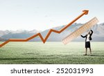 young businesswoman measuring... | Shutterstock . vector #252031993