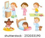 children's daily routine | Shutterstock .eps vector #252033190