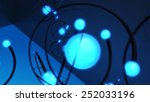 abstract 3d background cyan and ... | Shutterstock . vector #252033196