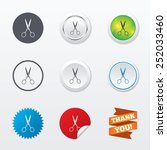 scissors hairdresser sign icon. ... | Shutterstock .eps vector #252033460