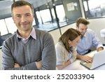 businessman attending meeting... | Shutterstock . vector #252033904
