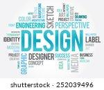 design word cloud  creative... | Shutterstock .eps vector #252039496