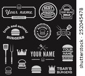 set of logo  labels  stickers... | Shutterstock .eps vector #252045478