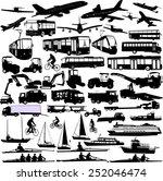 transportation silhouettes... | Shutterstock .eps vector #252046474
