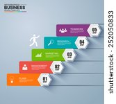 infographics business stair... | Shutterstock .eps vector #252050833
