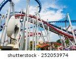 railway of roller coaster in... | Shutterstock . vector #252053974