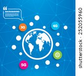 abstract world globe. mobile... | Shutterstock .eps vector #252055960