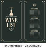 wine list with a bottle and... | Shutterstock .eps vector #252056260
