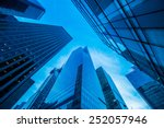 tall skyscrapers during evening ... | Shutterstock . vector #252057946