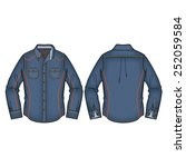 classic denim shirt vector | Shutterstock .eps vector #252059584
