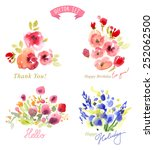floral background  watercolor... | Shutterstock .eps vector #252062500