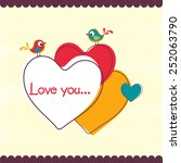 happy valentine's day greeting... | Shutterstock .eps vector #252063790