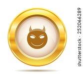 Evil Icon. Internet Button On...