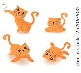orange cat | Shutterstock .eps vector #252067900