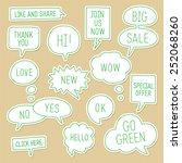 sticker speech bubbles  ... | Shutterstock .eps vector #252068260