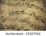 Old Music Sheet For Piano