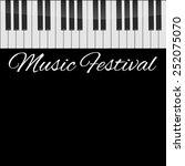 Piano Vector Background....