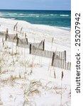 Sand Fences Along The Gulf...