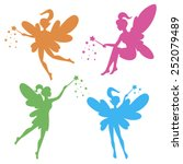 vector drawing of a fairy  elf | Shutterstock .eps vector #252079489