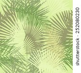 Seamless Palm Leaves. Vector