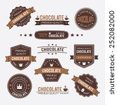 chocolate vintage retro design... | Shutterstock .eps vector #252082000