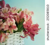 bouquet of alstroemeria | Shutterstock . vector #252085810