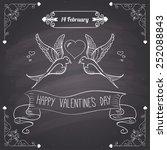 chalkboard style  happy... | Shutterstock .eps vector #252088843