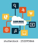 cloud music design  vector...   Shutterstock .eps vector #252095866