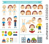early childhood development.... | Shutterstock .eps vector #252102613