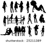 fashion silhouettes | Shutterstock .eps vector #25211389