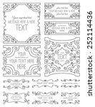 swirl frames two | Shutterstock .eps vector #252114436
