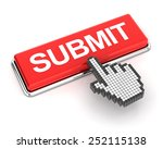 hand cursor clicking a submit... | Shutterstock . vector #252115138