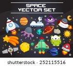 space vector set | Shutterstock .eps vector #252115516