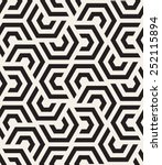 Vector seamless pattern. Modern stylish texture. Repeating geometric tiles with hexagonal elements | Shutterstock vector #252115894