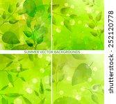 set of green nature backgrounds ... | Shutterstock .eps vector #252120778