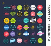 retro premium quality labels set | Shutterstock .eps vector #252122080