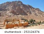 mountain cloister landscape.... | Shutterstock . vector #252126376